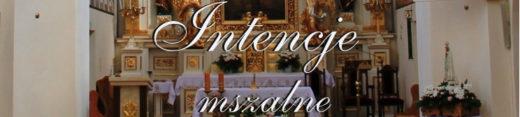 Intencje mszalne w parafii Podwyższenia Krzyża Św. w Adamowie